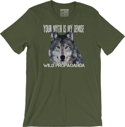 Wolf - Minimalist - Your myth is my demise - Men's/Unisex T-shirt