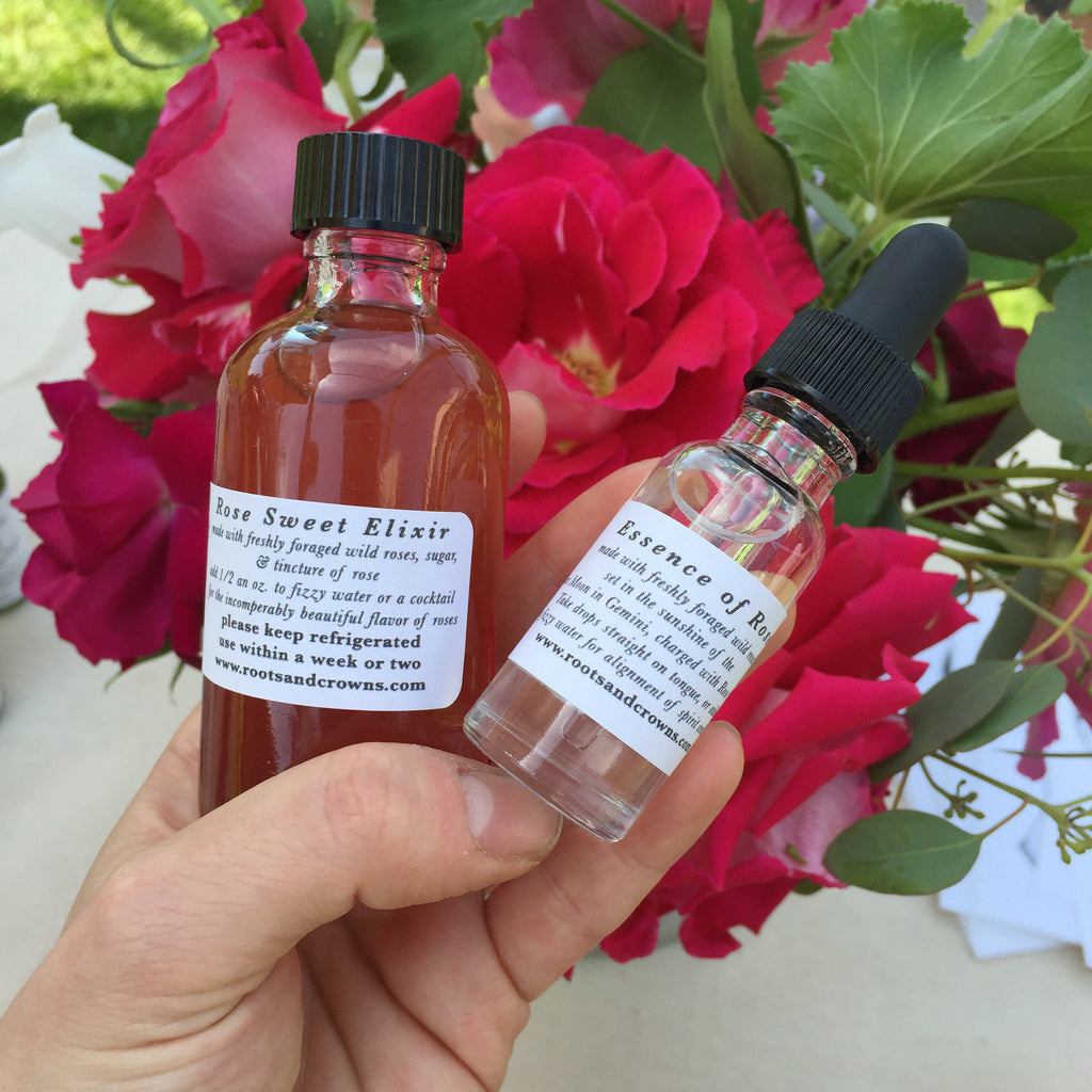 The Little Rose Bundle: Essence of Rose Drops, & Rose Sweet Elixir