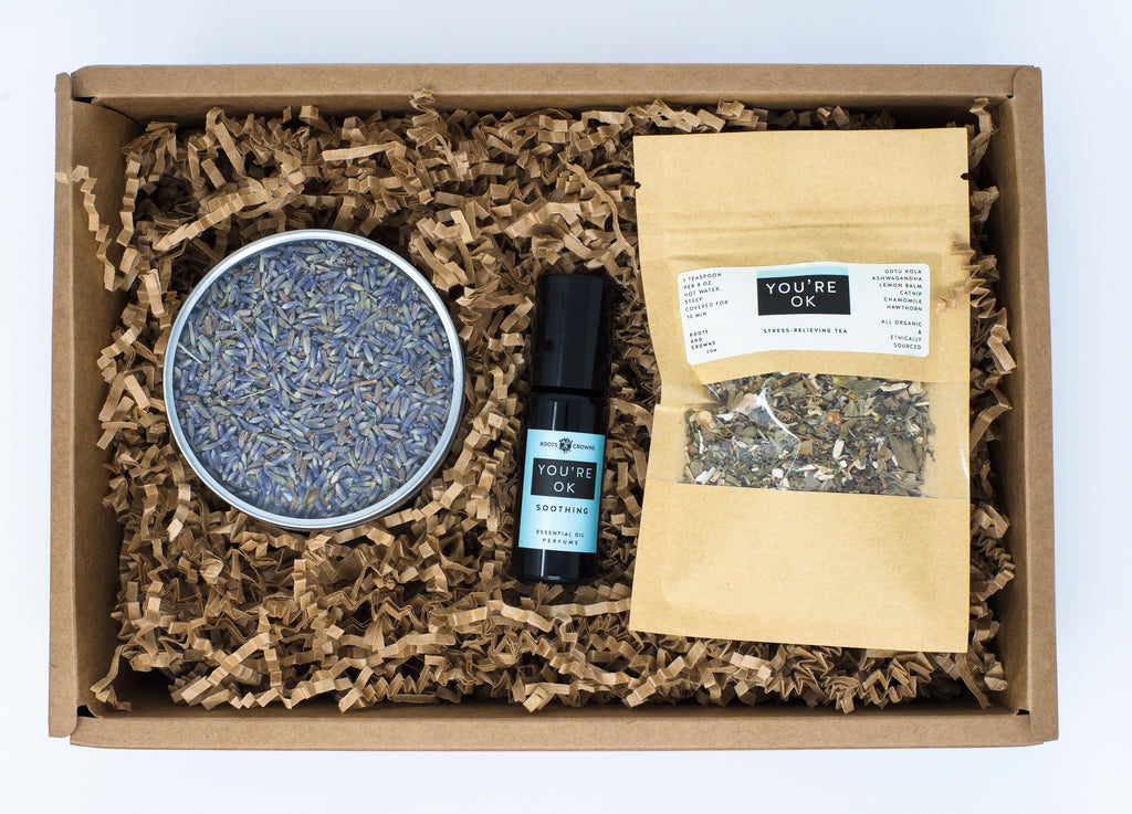 You're Ok Bundle: Tincture or Tea Blend, Bath Salts, & Aromatherapy Oil