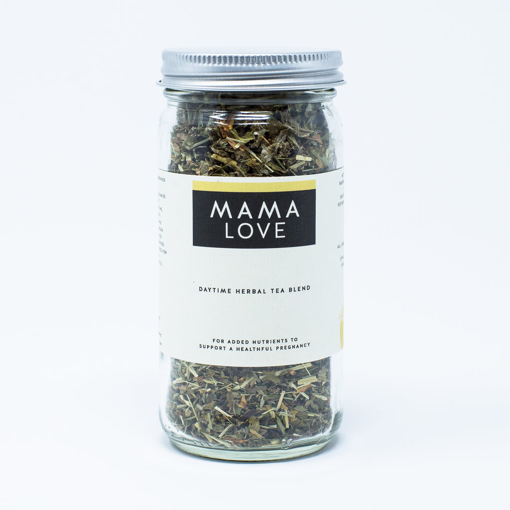 Mama-Love Pregnancy & Postpartum Tea: Day-time Blend for nutrients & womb-health