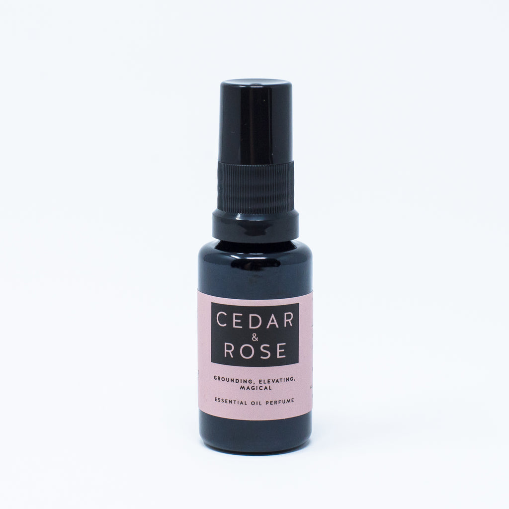Cedar & Rose Mist: Essential Oil Perfume Mist