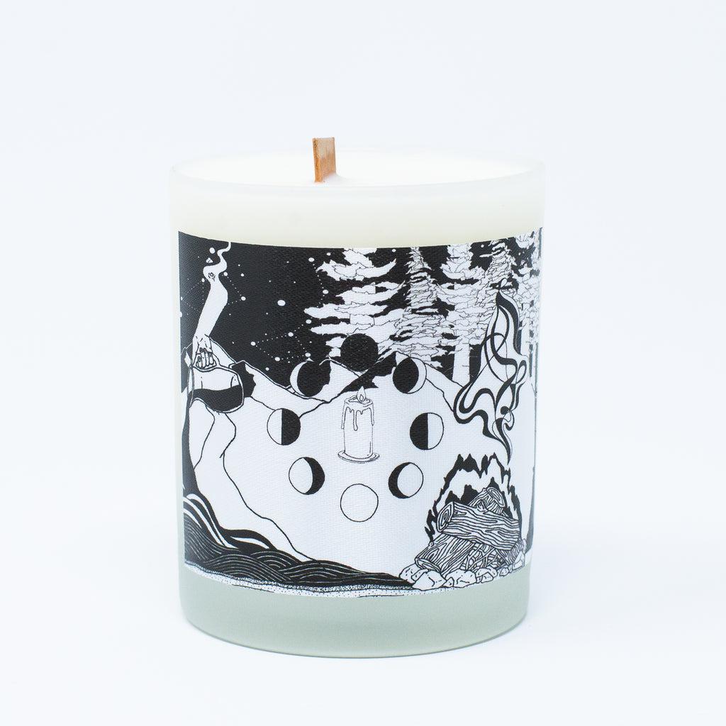 Ritual Candle with Elemental Design