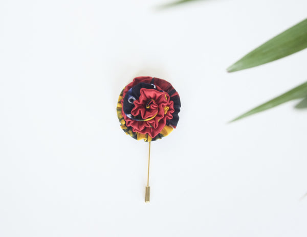 Mumbejja Flower Lapel Pin