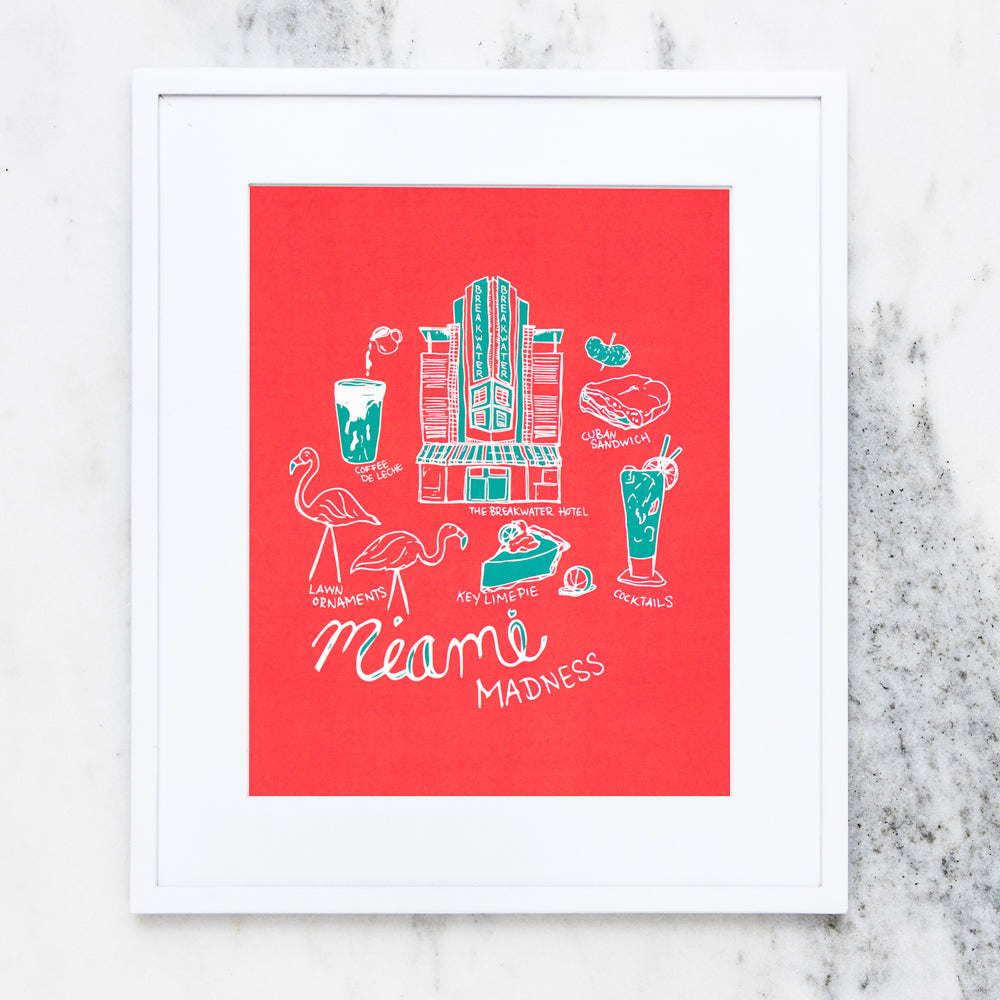 Miami Madness Art Print