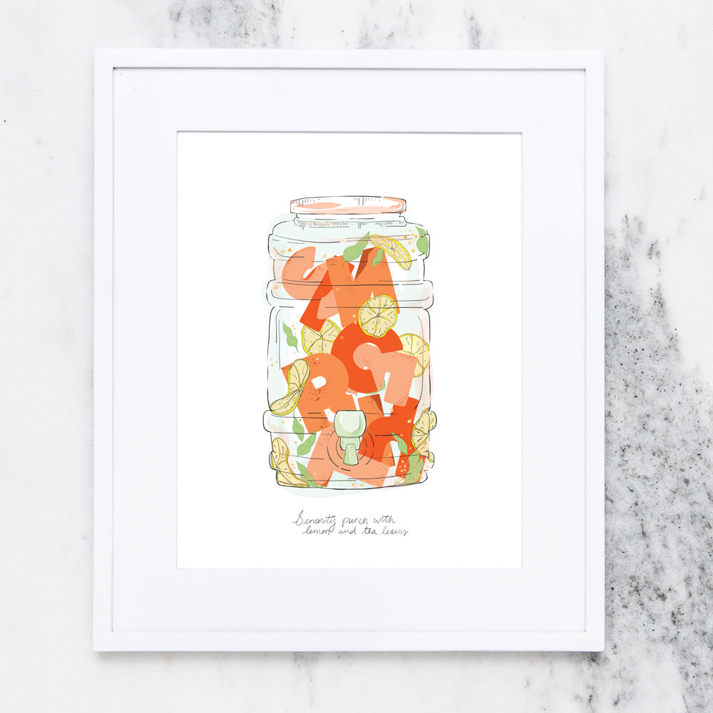 Sincerity Punch Art Print