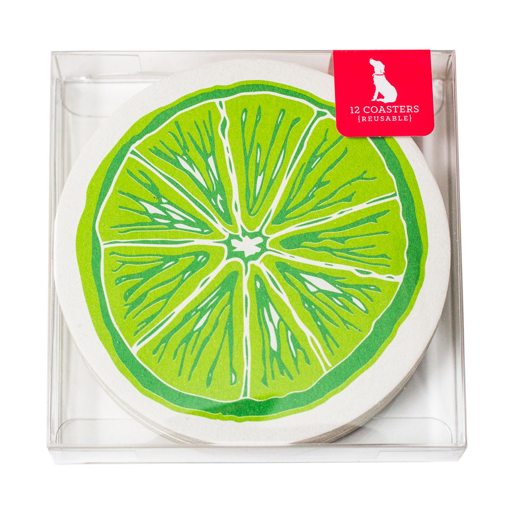 Slice of Lime Coaster Set