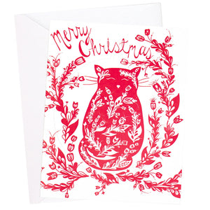 Cat Ornament Christmas Card