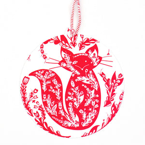 Fox Ornament Christmas Card