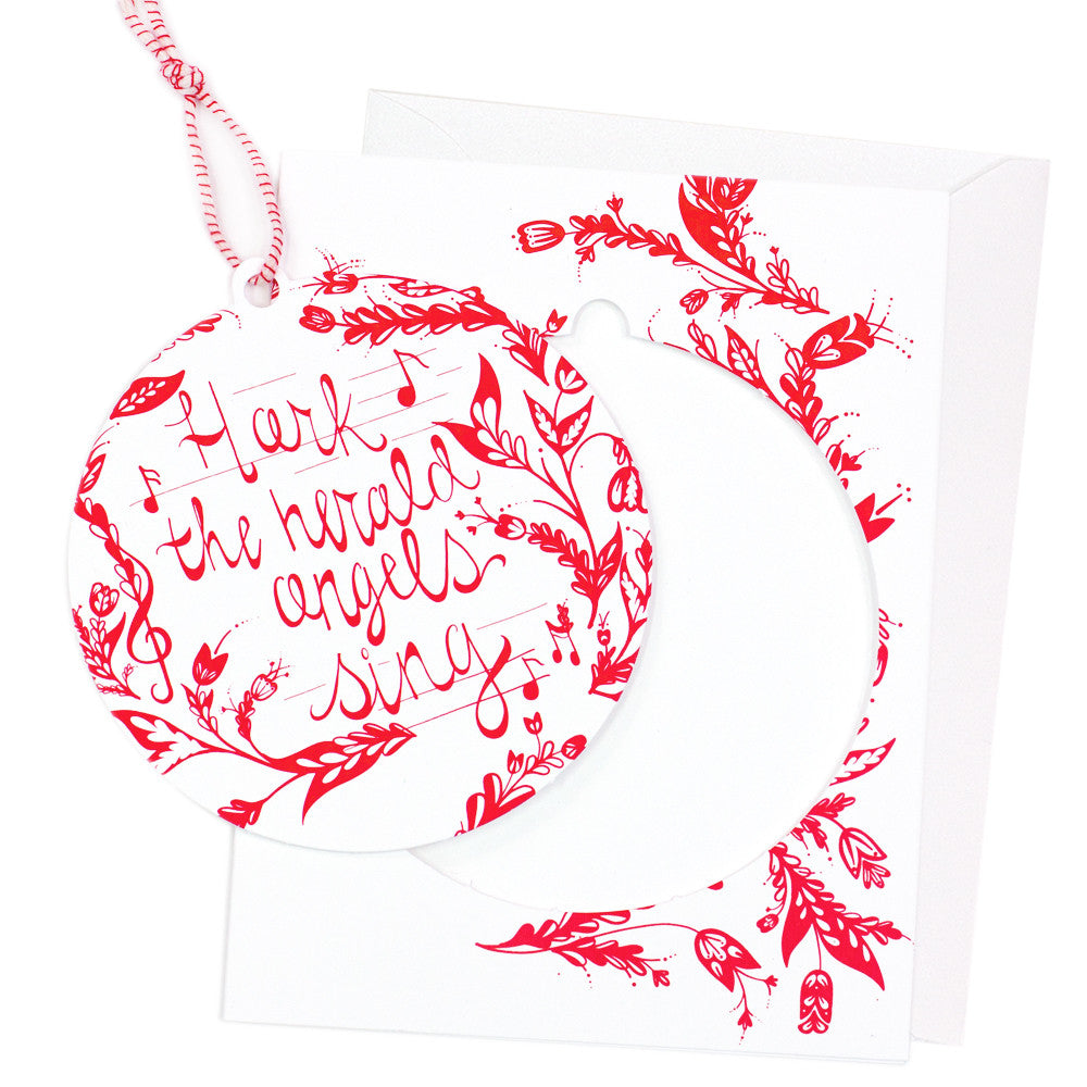 Angels Sing Ornament Christmas Card