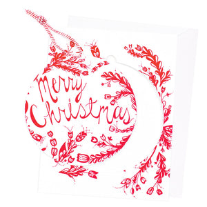 Merry Christmas Ornament Christmas Card