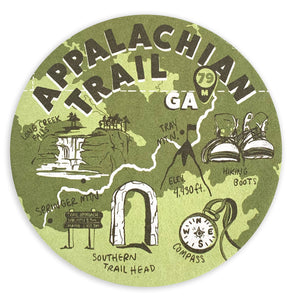 Appalachian Trail (GA) Coaster Set