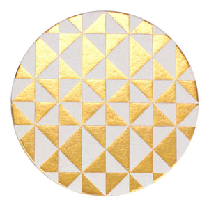 Golden Geometric Foil Coaster Set