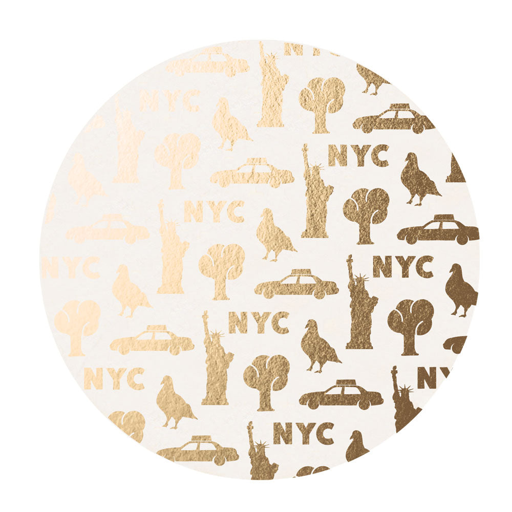 Golden NYC Coaster Set