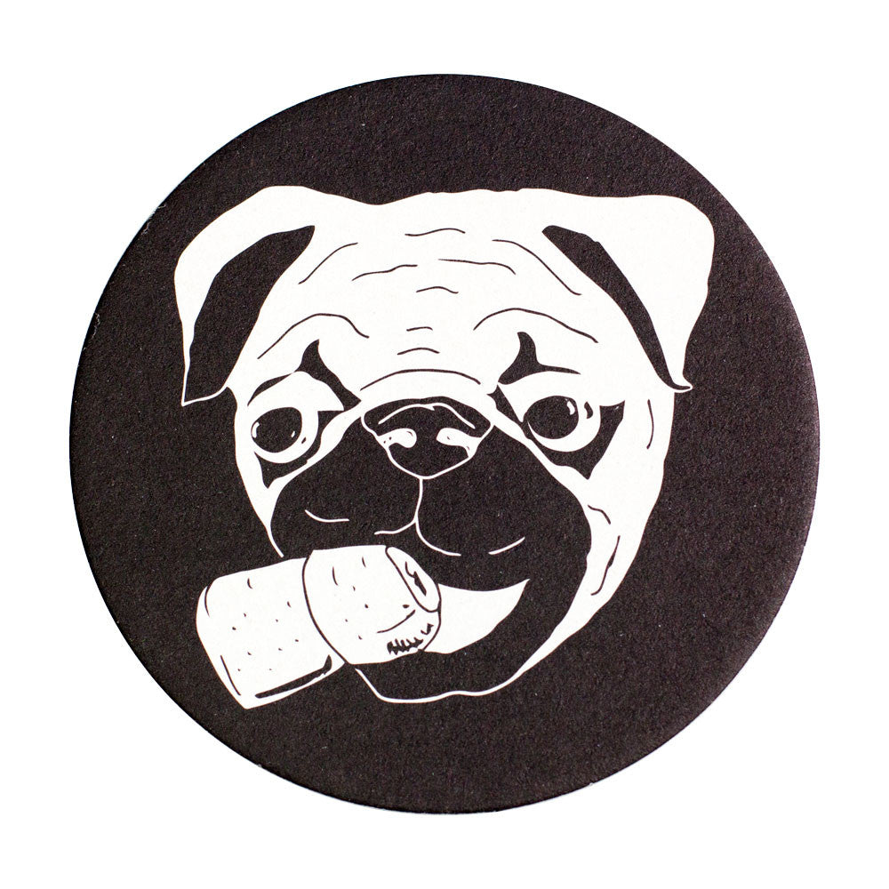 Party Pug Coaster Set