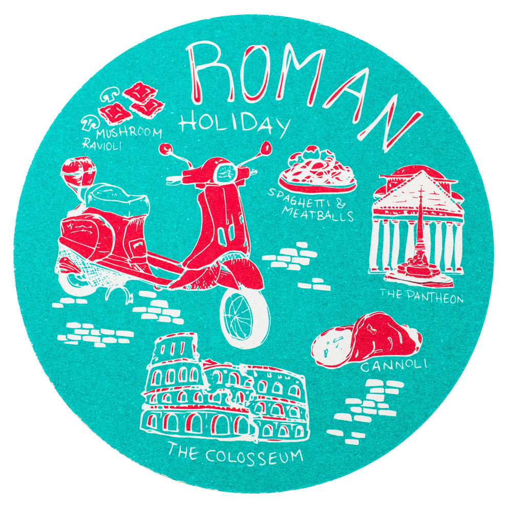 Roman Holiday Coaster Set
