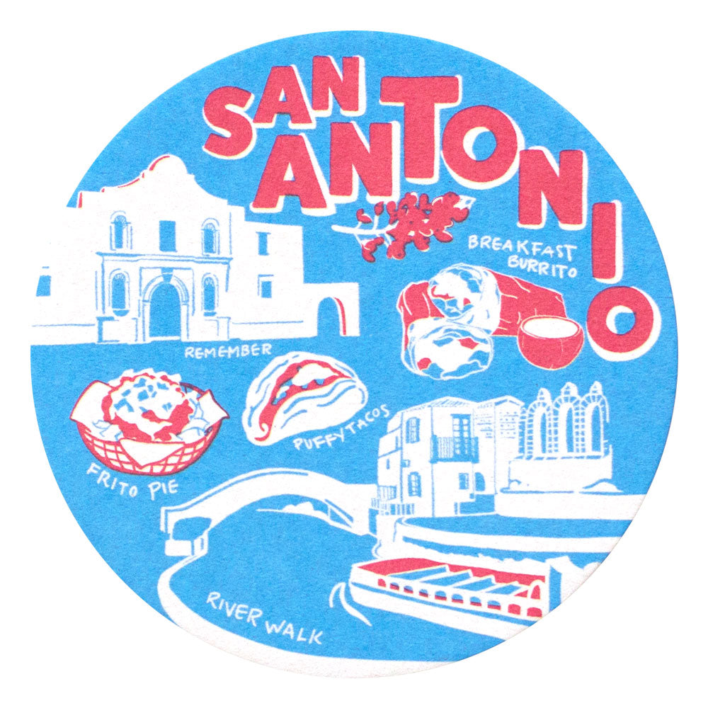 San Antonio Coaster Set