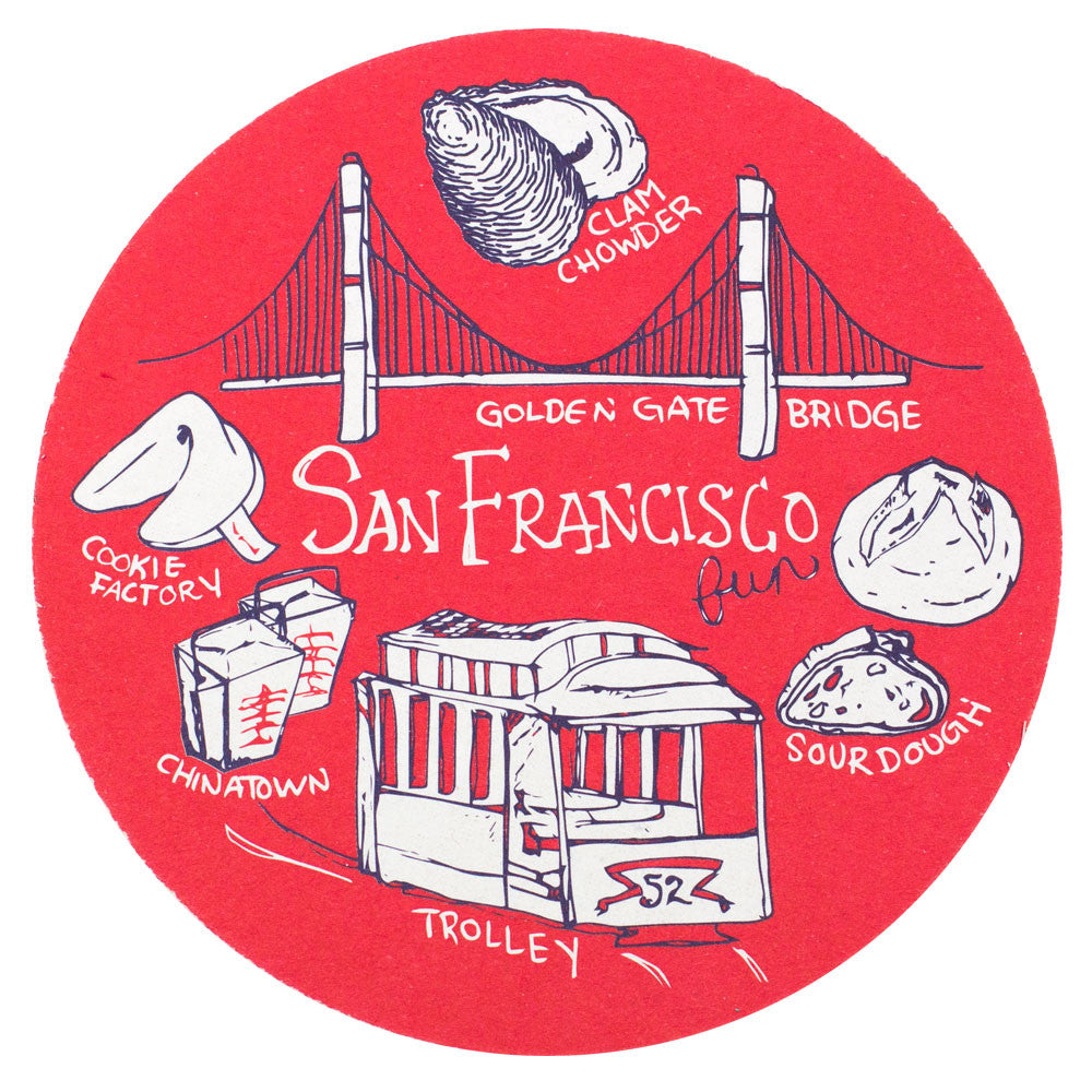 San Francisco Fun Coaster Set