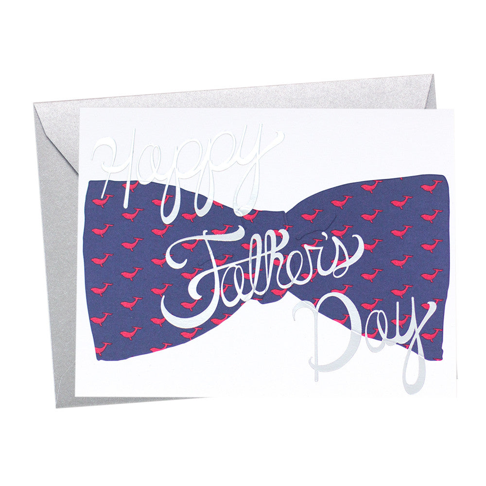 Father's Day Whale Bow Tie