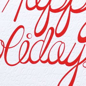 Happy Holidays Red Pattern