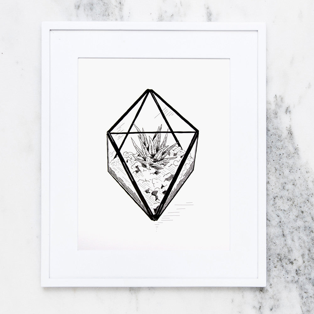Diamond Terrarium Art Print