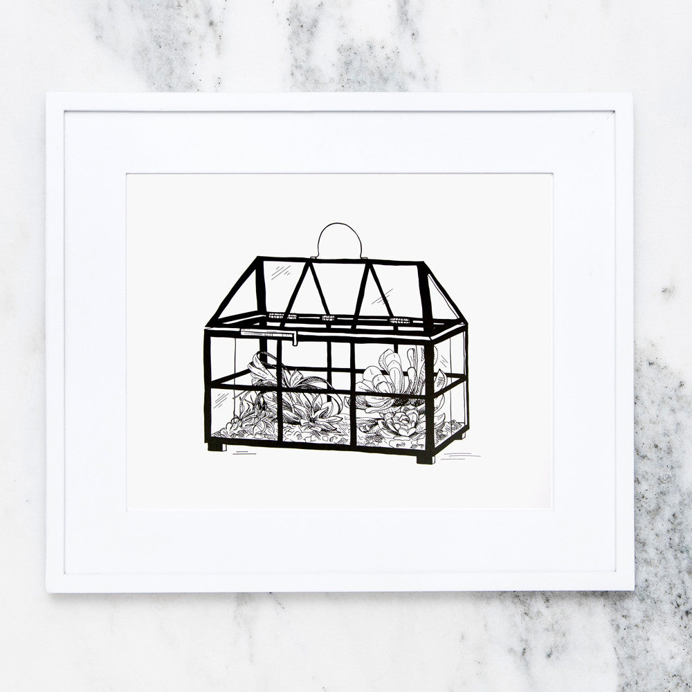 House Terrarium Art Print