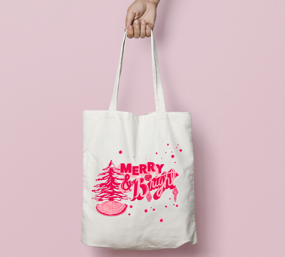 Merry & Bright Holiday Tote