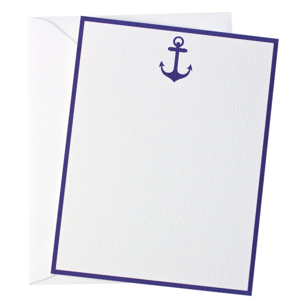 Nantucket Anchor Note Card