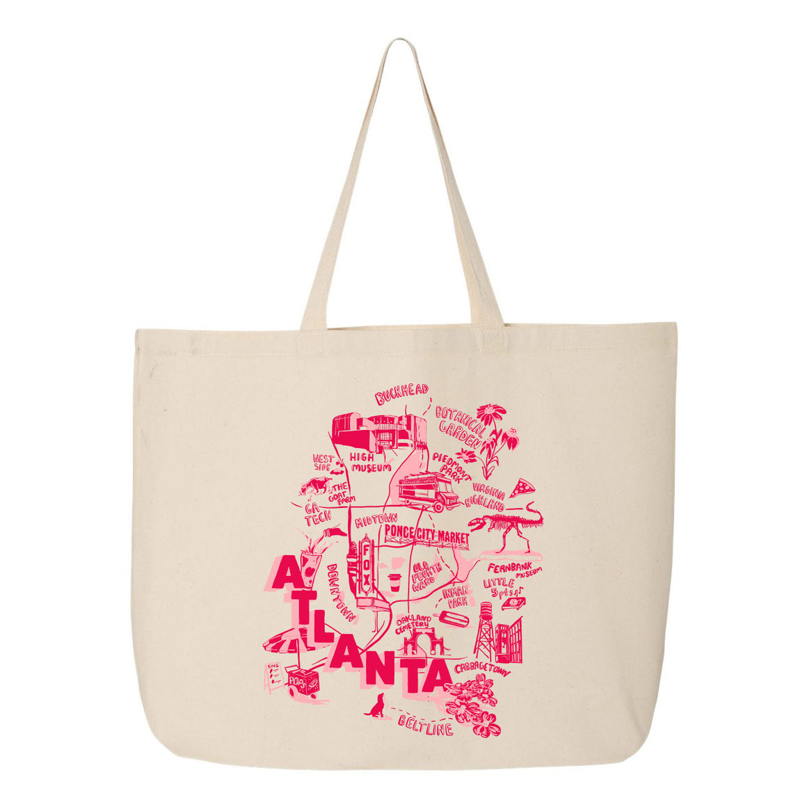 Atlanta Map Tote
