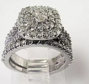1.00 CTTW Natural Diamond 10K White Gold Engagement Ring