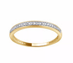 Natural Diamond 10K Yellow Gold Accent Band