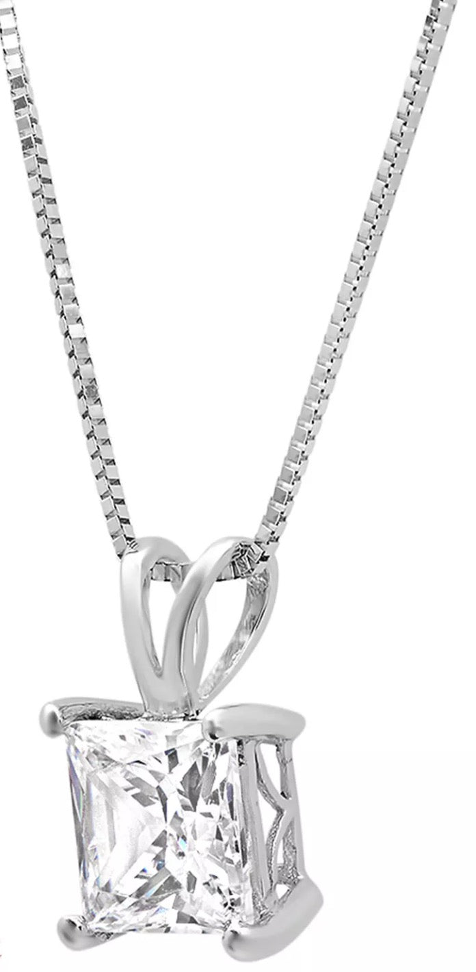 rhodium simulated rivka lock friedman clad charm p width v necklace diamond key
