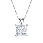 2 Ct Simulated Diamond 14K White Gold Necklace