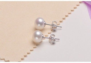 Fresh Water Pearl Sterling Silver 5-10mm Stud Earrings