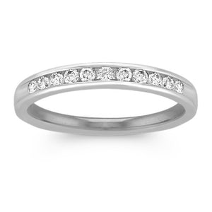 1/4 Cttw Natural Diamond 10K White Gold Band