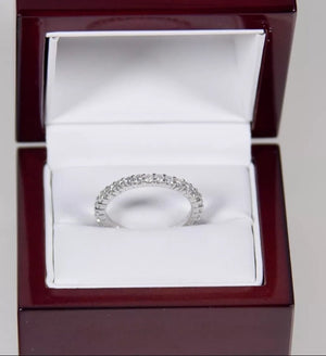 1.0 Ct Natural Diamond 14K White Gold Eternity Band