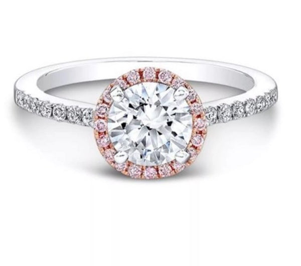 2.35 Ct Diamond 14K White & Rose Gold Band