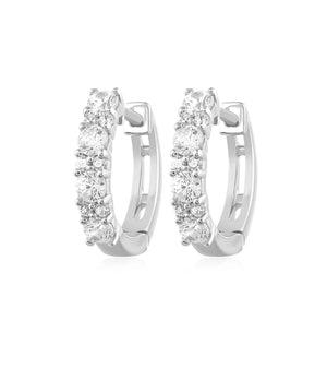 .50 Ct Natural Diamond 10K Gold Huggie Hoop Earrings