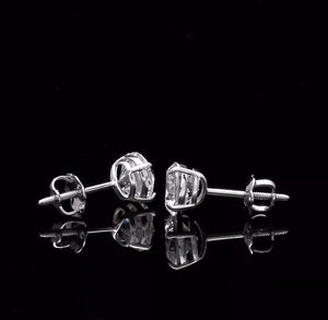 **BEST SELLER**    2.0 Ct Diamond 14K White Gold Stud Earrings