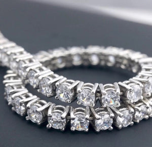 9.0 Ct Natural Diamond  Solid 14K Gold Tennis Bracelet