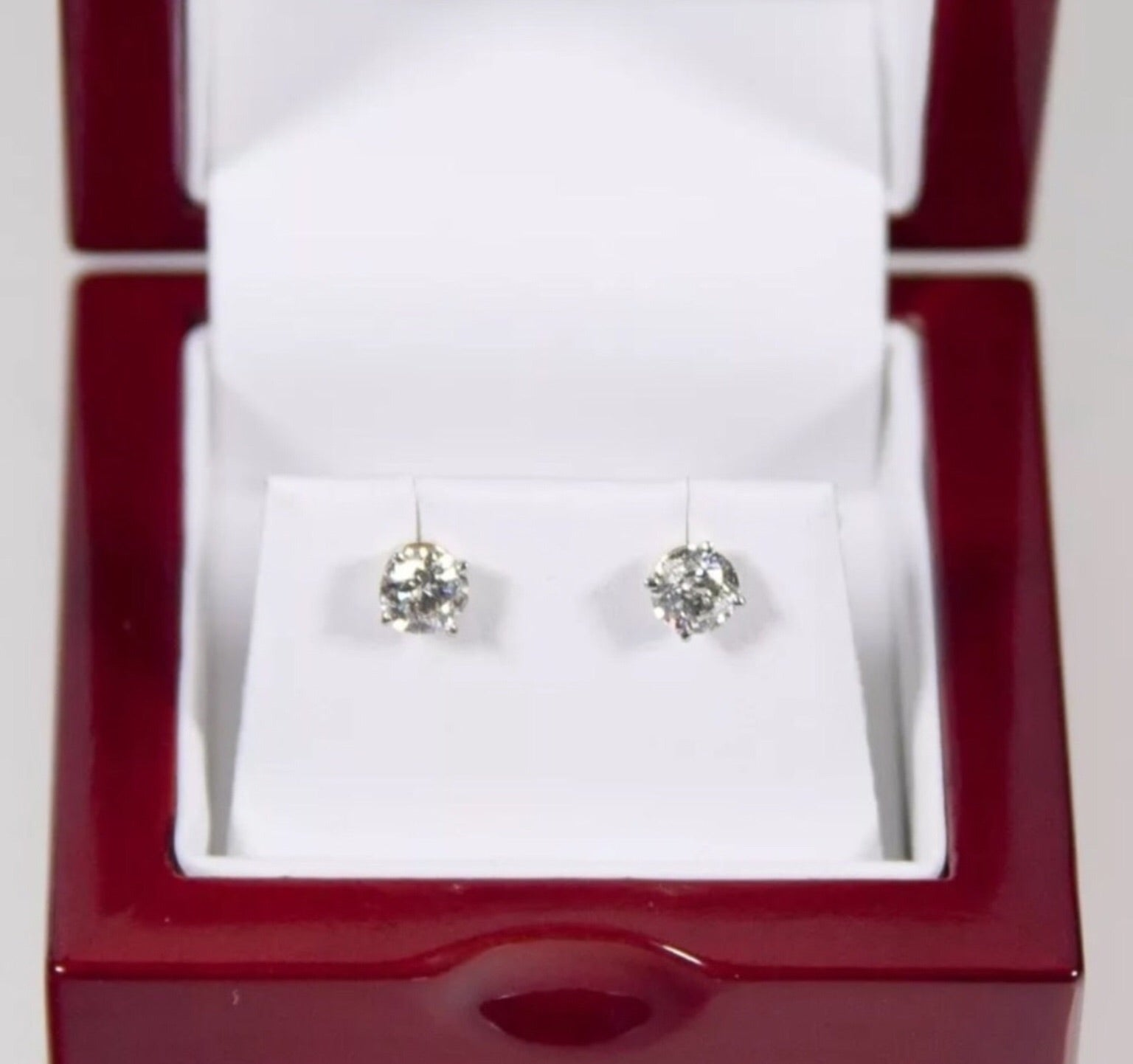 fbe77c15d 1.00 CT Natural Diamond Solid 14K Yellow Gold Stud Earrings