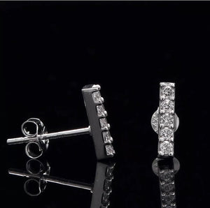 .20 Ct Simulated Diamond T-Bar 14K White Gold Studs