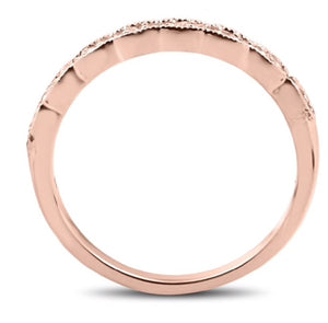.20 CTTW Natural Diamond 14K Rose Gold Stackable Ring
