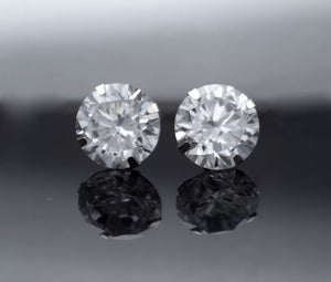 .50 Ct Simulated Diamond Martini 14K White Gold Stud Earrings