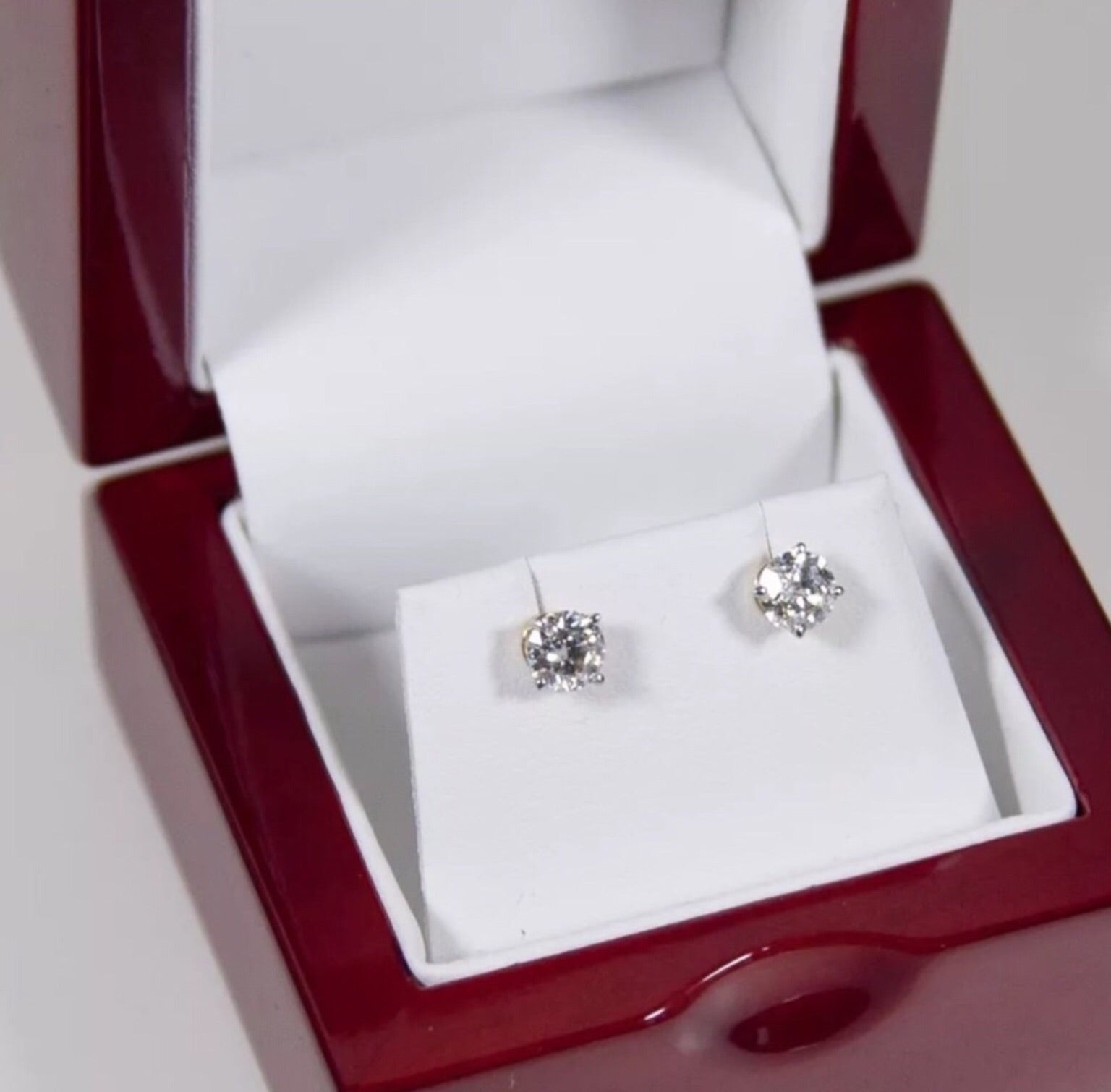 7f4ea3921 1.00 CT Natural Diamond Solid 14K Yellow Gold Stud Earrings