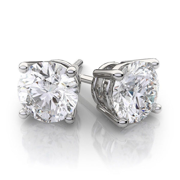 2.0 Ct Diamond 14K White Gold Stud Earrings