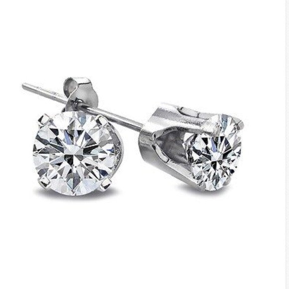 .25 Ct Natural Diamond 14K White Gold Stud Earrings