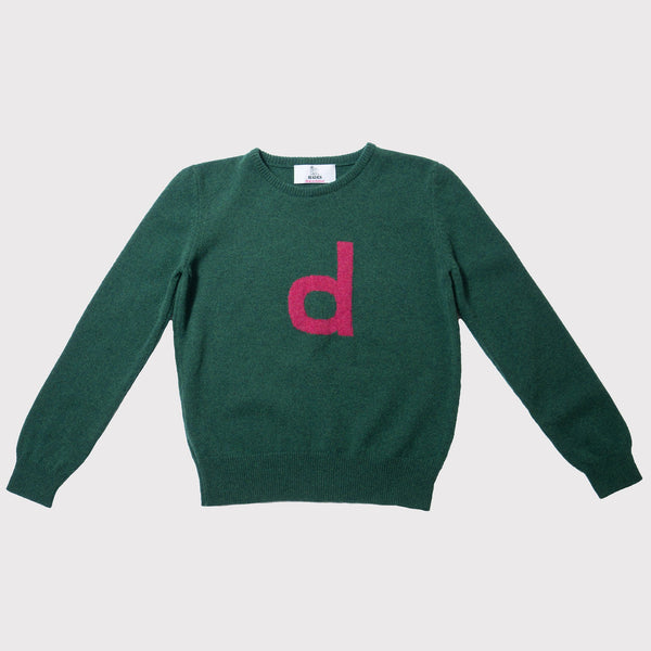 Alphabet letter jumper d knit