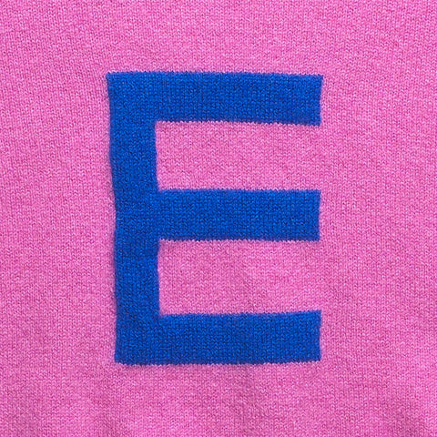 Archive - Alphabet E Knit - Pink