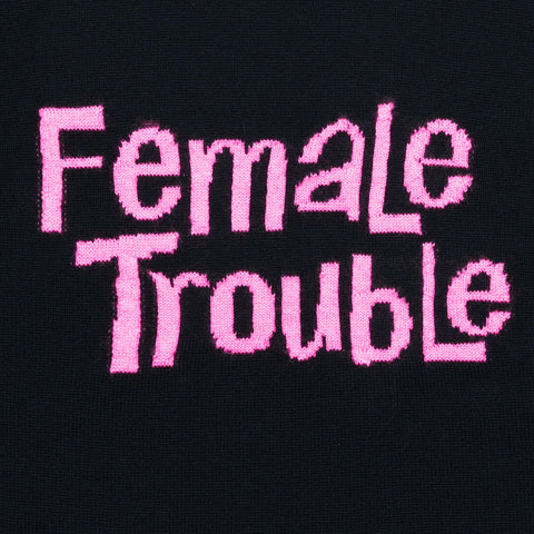 Female Trouble | Dark Navy & Neon Pink - Available in XS