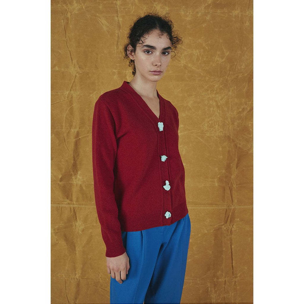 Carrington Cardigan | Red | Greek Mythology